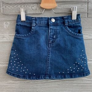 Crazy 8 jean skirt with sequins detail